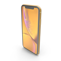 iPhone XR Yellow PNG & PSD Images
