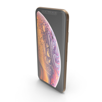 iPhone XS Gold PNG & PSD Images