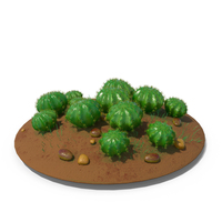 Cactus Barrel Ground Multi PNG & PSD Images