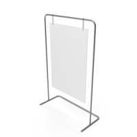 Silver Sign Stand PNG & PSD Images