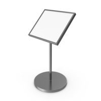 Metallic Information Stand PNG & PSD Images