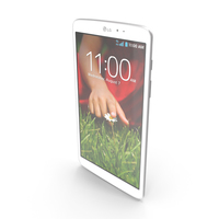 LG G Pad 8.3 White PNG & PSD Images