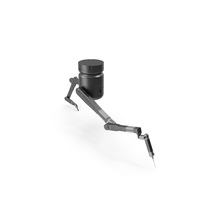 Sci-Fi Robotic Arm Black PNG & PSD Images