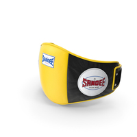 Sandee Velcro Belly Pad Black Yellow PNG & PSD Images