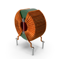Toroidal Choke Coil Filter Inductor PNG & PSD Images