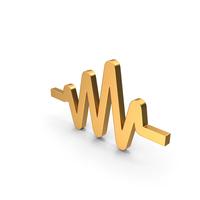 Pulse Symbol Gold PNG & PSD Images