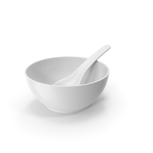 White Bowl With Spoon PNG & PSD Images