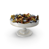 Fancy Porcelain Bowl With Fancy Wrapped Chocolate Candy PNG & PSD Images