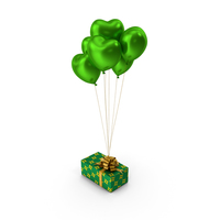 Giftbox Green Heart balloons PNG & PSD Images
