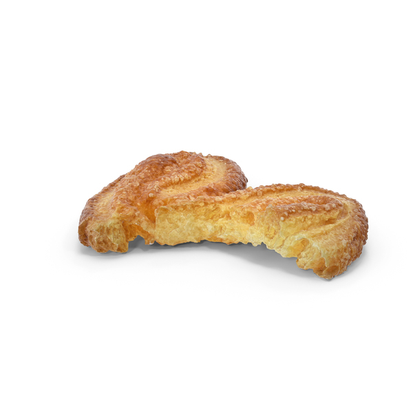French Palmiers Cookie Bitten PNG & PSD Images