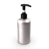Black Cosmetic Pump Bottle PNG & PSD Images