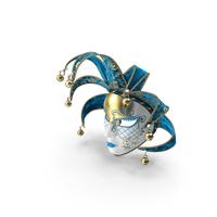 Blue Venetian Full Face Carnival Mask PNG & PSD Images