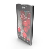 LG Optimus L5 II E460 Indigo Black PNG & PSD Images
