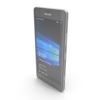 Microsoft Lumia 950 White PNG & PSD Images
