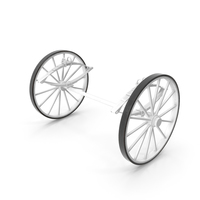 Carriage Wheels with Springs PNG & PSD Images