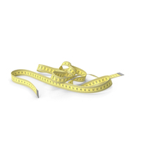 Yellow Measuring Tape PNG & PSD Images