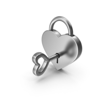 Silver Padlock and Key PNG & PSD Images