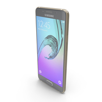 Samsung Galaxy A3 2016 Gold PNG & PSD Images