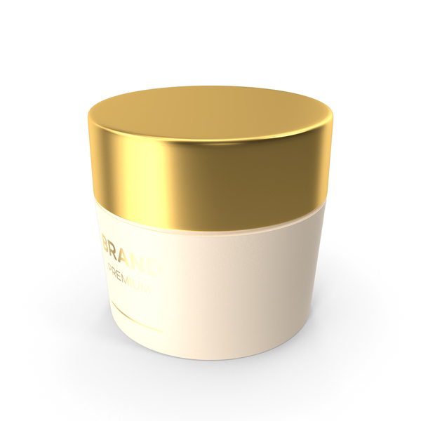 Gold Cosmetic Cream Jar PNG & PSD Images