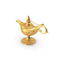Golden Magic Lamp PNG & PSD Images