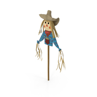 Halloween Harvest Scarecrow Decoration Scarecrow Stick PNG & PSD Images