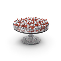 Fancy Crystal Bowl with Kinder Choco Bons PNG & PSD Images
