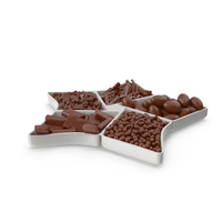 Compartment Bowl with Mixed Chocolate Candies PNG & PSD Images
