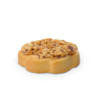 Small Cookie With Nuts PNG & PSD Images