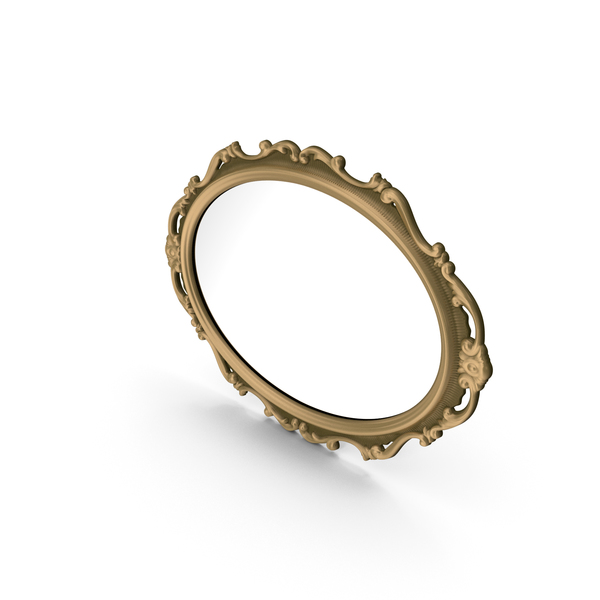 Classic Mirror In Baroque Style PNG & PSD Images