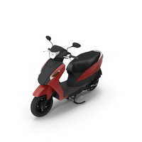 Red And Black Colored Scooter PNG & PSD Images