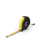 Black and Yellow Tape Measure PNG & PSD Images