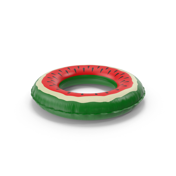 Inflatable Pool Ring Watermelon PNG & PSD Images