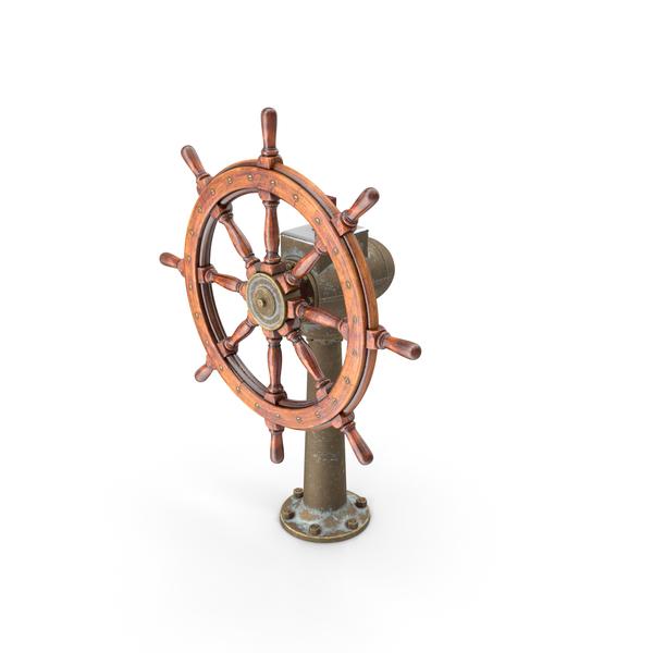 Large Vintage Ship Wheel PNG & PSD Images