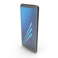 Samsung Galaxy A8 Plus 2018 Black PNG & PSD Images