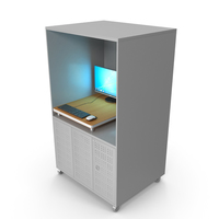 Gray Computer Rack PNG & PSD Images