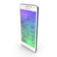Samsung Galaxy Alpha Dazzling White PNG & PSD Images
