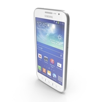 Samsung Galaxy Core Advance Pearl White PNG & PSD Images