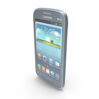 Samsung Galaxy Core Metallic Blue PNG & PSD Images