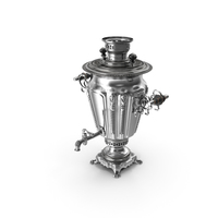 Russian Antique Silver Plated Samovar PNG & PSD Images