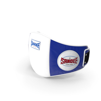 Sandee Velcro Belly Pad White Blue PNG & PSD Images