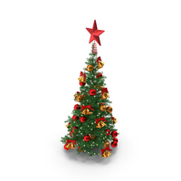 Small Holiday Christmas Tree PNG & PSD Images