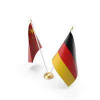 Table Flags Germany and China PNG & PSD Images