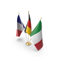 Table Flags Germany France Italy PNG & PSD Images