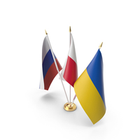 Table Flags Russia Ukraine Poland PNG & PSD Images