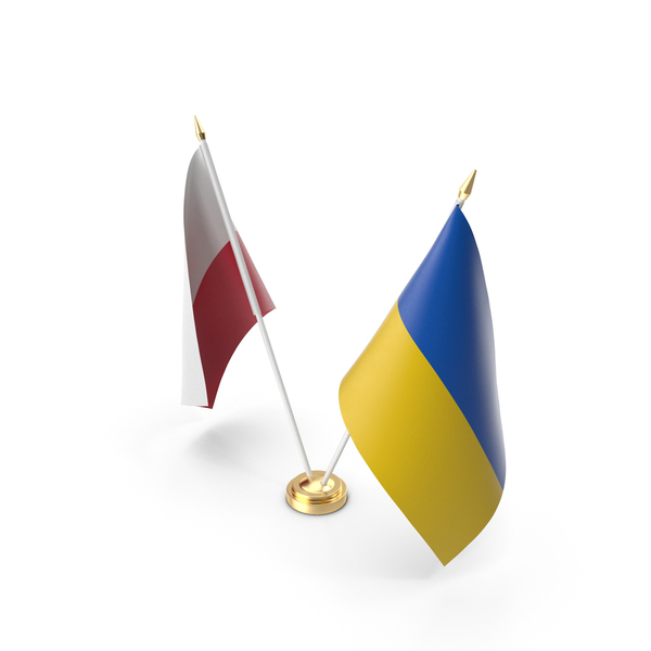 Table Flags Ukraine and Poland PNG & PSD Images