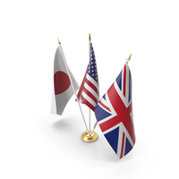 Table Flags United Kingdom USA Japan PNG & PSD Images