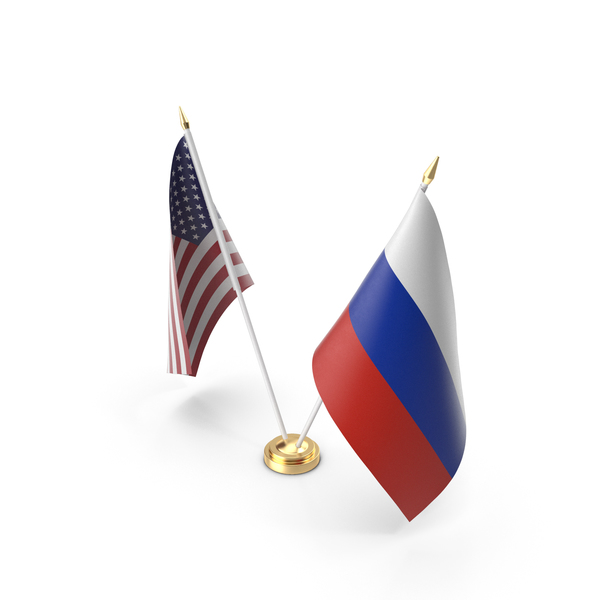Table Flags USA and Russia PNG & PSD Images