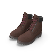 Leather 6-inch Boots 2 Colors PNG & PSD Images