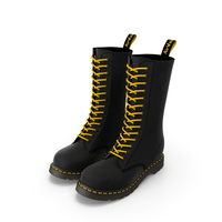 Leather Black Boots PNG & PSD Images