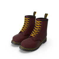 Leather Red Boots PNG & PSD Images